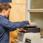 drukarko kopiarka w pracy